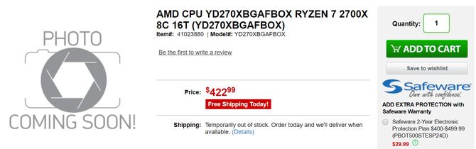 AMD Ryzen 2000 - procesory już dostępne w przedsprzedaży [1]