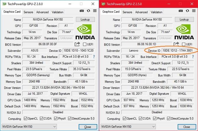 NVIDIA GeForce MX150 pojawił się w nowej, słabszej odmianie [3]