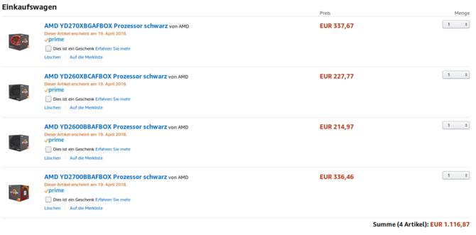 AMD Ryzen 2000 - niższa cena w przedsprzedaży w Amazonie [2]