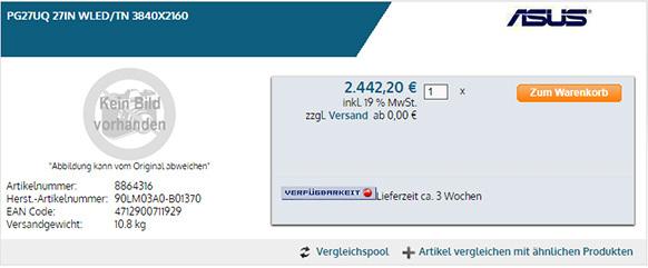 Znamy ceny flagowych monitorów Acer i ASUS 4K, 144 Hz i HDR [3]