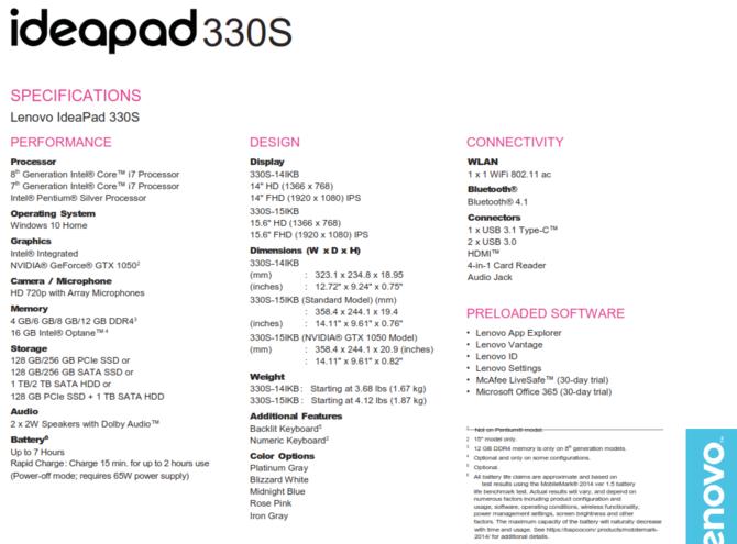 Lenovo zapowiada laptopy IdeaPad 330, 330s oraz 530s [5]