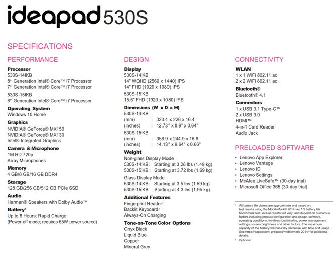 Lenovo zapowiada laptopy IdeaPad 330, 330s oraz 530s [6]