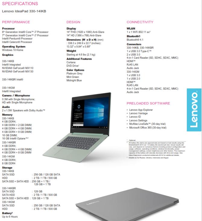Lenovo zapowiada laptopy IdeaPad 330, 330s oraz 530s [7]