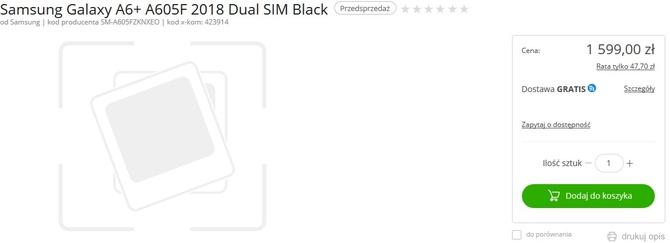 Znamy cenę Samsunga Galaxy A6+ - robi wrażenie... negatywne [2]