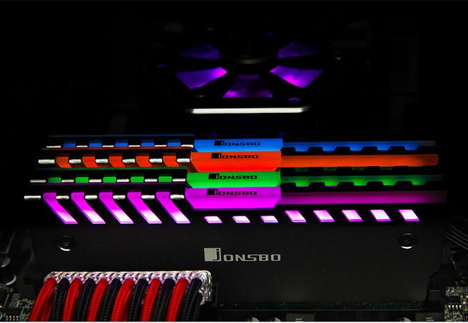Jonsbo NC-2 - Radiatory z RGB LED dla modułów RAM [2]