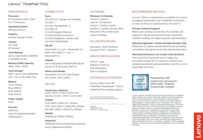 Lenovo ThinkPad P52s - nowa mobilna stacja robocza [4]
