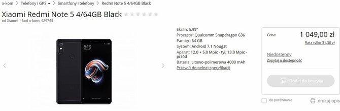 Xiaomi Redmi Note 5 trafia do Polski w świetnej cenie [2]