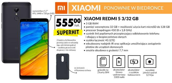 Xiaomi Redmi 5 od dziś dostępny w sklepach Biedronka [1]