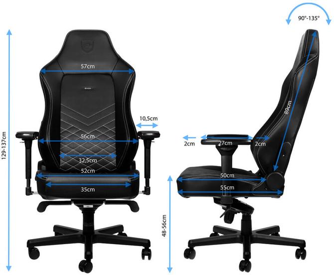 noblechairs HERO - Nowy fotel oferujący więcej przestrzeni [2]