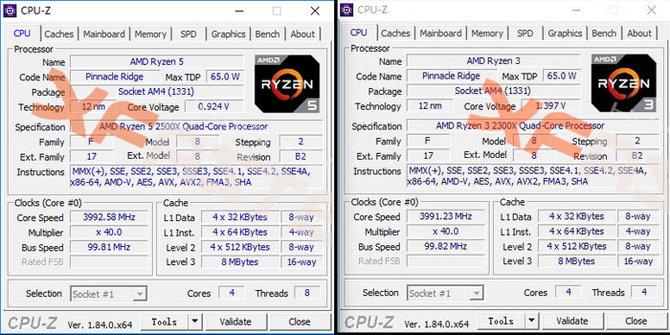 AMD Ryzen 3 2300X oraz Ryzen 5 2500X - znamy specyfikację [1]