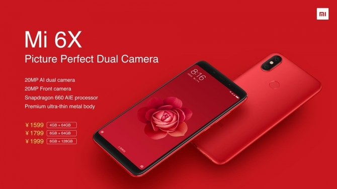 Xiaomi Mi A2 zadebiutuje w Europie już 25 lipca [3]