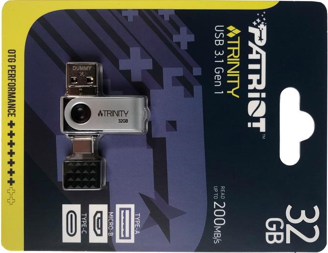 Patriot Trinity - Niewielki pendrive z kompletem złączy USB [1]