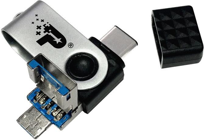 Patriot Trinity - Niewielki pendrive z kompletem złączy USB [4]