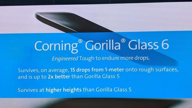 Gorilla Glass 6 - szkło zwiększające odporność na upadki  [1]
