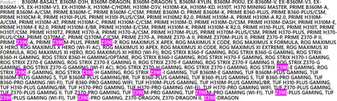 ASUS publikuje listę płyt głównych z chipsetem Intel Z390 [1]