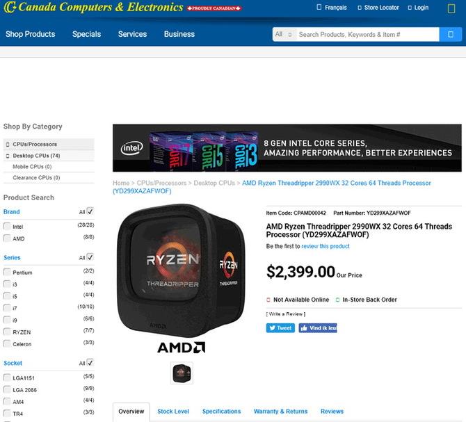 AMD Ryzen Threadripper 2990WX - poznaliśmy cenę procesora? [2]