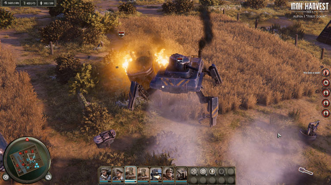 Iron Harvest na pierwszym gameplayu - roboty wchodzą do gry [1]