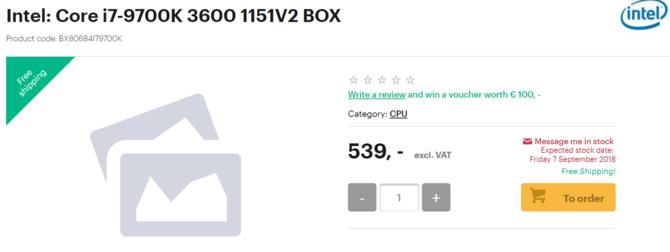 Intel Core i9-9900K i i7-9700K już dostępne w przedsprzedaży [4]