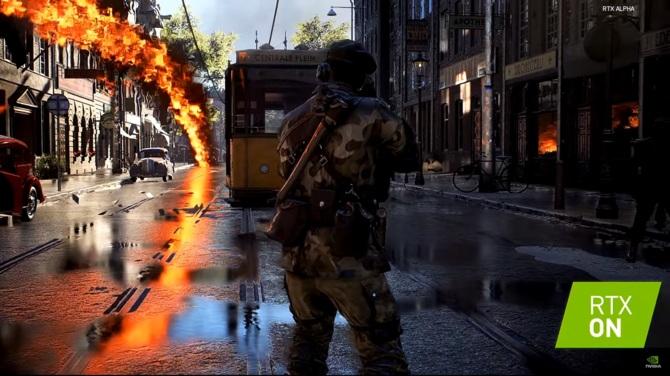Nvidia prezentuje wygląd Battlefielda V z i bez ray-tracingu [2]