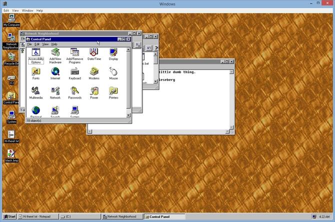 Projekt windows95 - sprawdźcie jakie kiedyś wyglądał Windows [2]