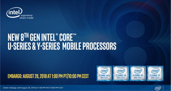 Intel Whiskey Lake-U i Amber Lake-Y - oficjalna premiera procesorów [1]