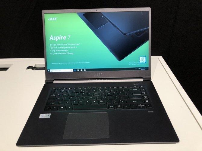 Next@acer - premiera Acer Aspire 7 z AMD Radeon RX Vega M GL [2]