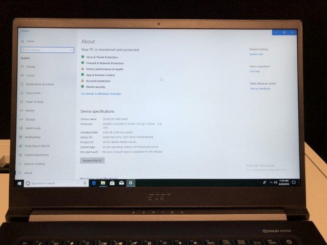 Next@acer - premiera Acer Aspire 7 z AMD Radeon RX Vega M GL [7]