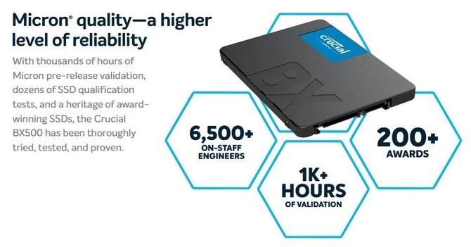 Crucial BX500 - nowa seria atrakcyjnie wycenionych SSD-ków [2]