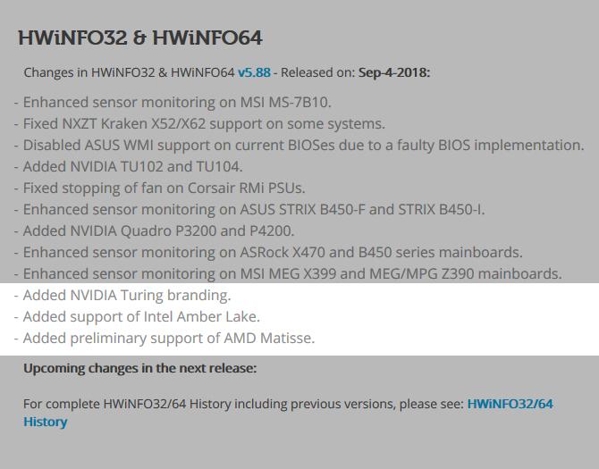 HWiNFO otrzymało wsparcie dla NVIDIA Turing i AMD Matisse [1]