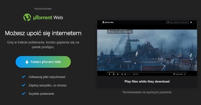 Streaming torrentów z programem µTorrent Web od BitTorrenta [1]