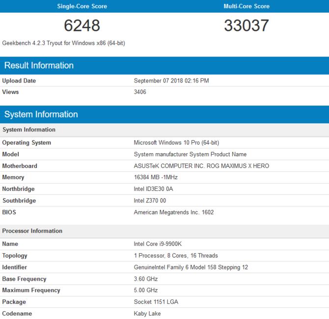 Intel Core i9-9900K -  Poznaliśmy wydajność flagowego procesora [1]