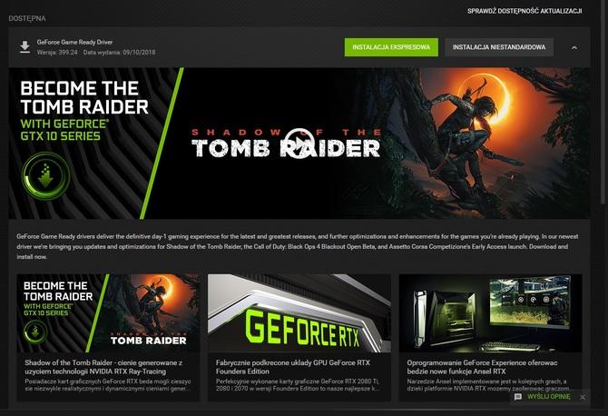 Sterowniki NVIDIA GeForce 399.24 gotowe do pobrania - lista zmian [1]