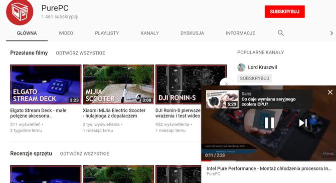 Miniodtwarzacz YouTube już dostępny dla użytkowników serwisu [1]