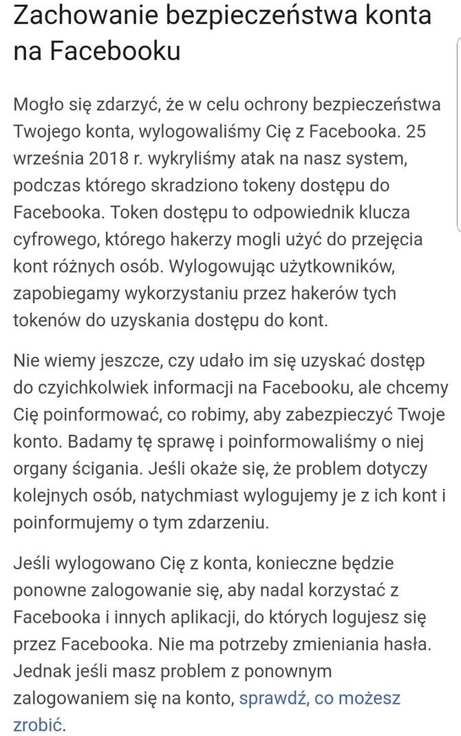 Polacy poszkodowani w ostatnim ataku hakerskim na Facebooka [4]