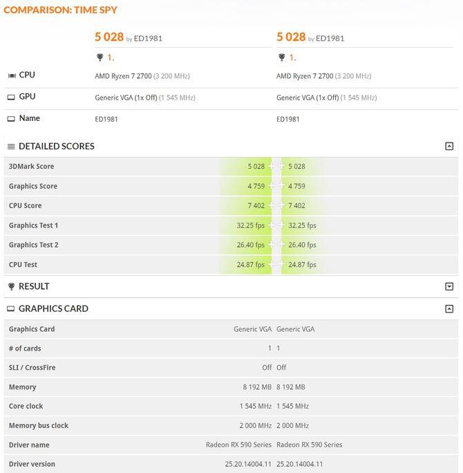 AMD Radeon RX 590 przetestowany w 3DMark [2]