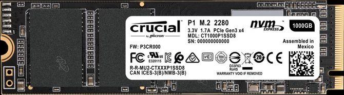 Crucial P1 - Nowe seria dysków z pamięciami QLC NAND [1]