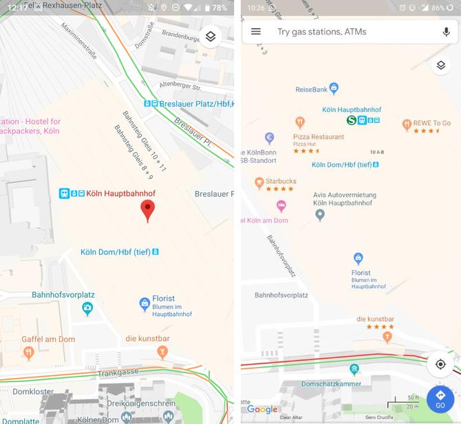 Mobilne Mapy Google w końcu z ocenami restauracji i barów [2]