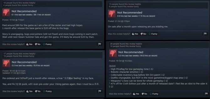 Gracze nie są zadowoleni z obniżki ceny Shadow of the Tomb Raider [2]
