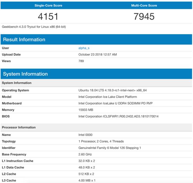 Intel zwiększy pamięć cache L1 i L2 w procesorach Ice Lake [1]