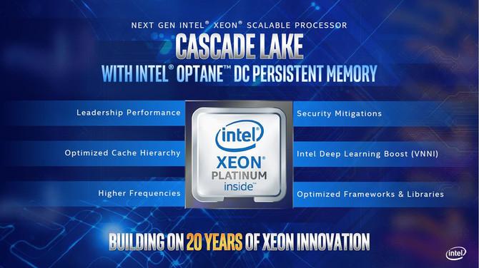 Intel prezentuje chipy Cascade Lake AP oraz nowe Xeony E-2100 [1]