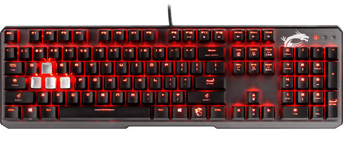 Klawiatura gamingowa MSI Vigor GK60: aluminium i Cherry MX Red [2]