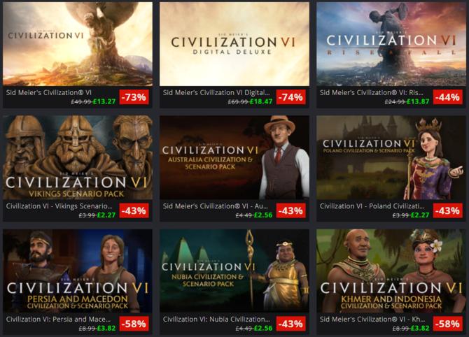 Promocja na Civilization VI z dodatkami w sklepie GreemanGaming [1]