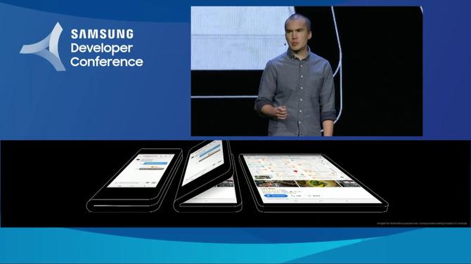 Samsung zaprezentował smartfona ze składanym ekranem [4]