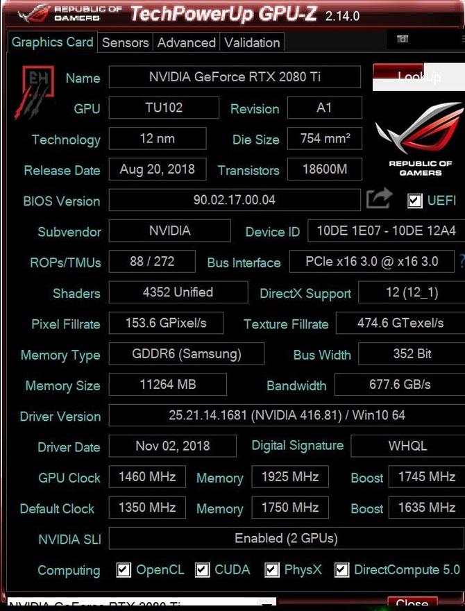 GeForce RTX 2080 Ti FE teraz z pamięciami GDDR6 Samsunga [2]