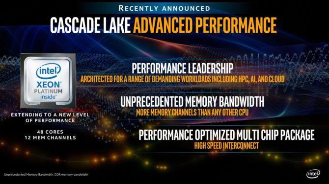 Intel Cascade Lake-AP - nowe porównania z AMD Epyc 7601 [1]
