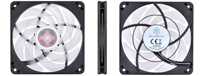 SilverStone FW124-ARGB - Wentylatory typu slim z aRGB LED [1]