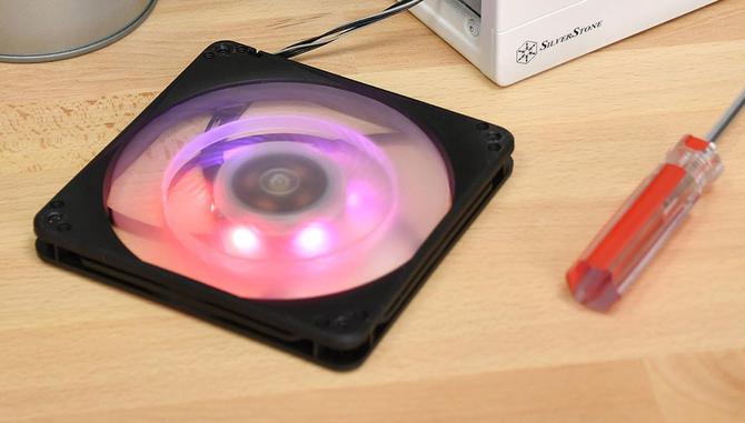 SilverStone FW124-ARGB - Wentylatory typu slim z aRGB LED [2]