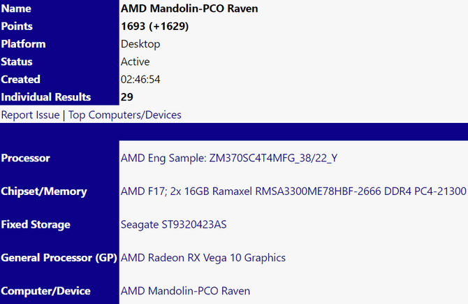 AMD Ryzen 7 3700U z GPU Radeon Picasso uchwycony w testach [3]