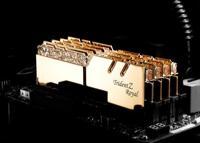 G.SKILL Trident Z Royal - Złote i srebrne moduły RAM z kryształami [5]