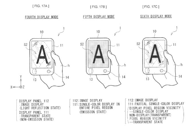 Patent Sony - przezroczysty wyświetlacz do składanego smartfona [1]